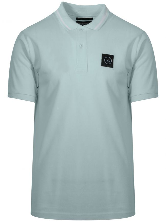 Aqua Blue Siren Polo Shirt