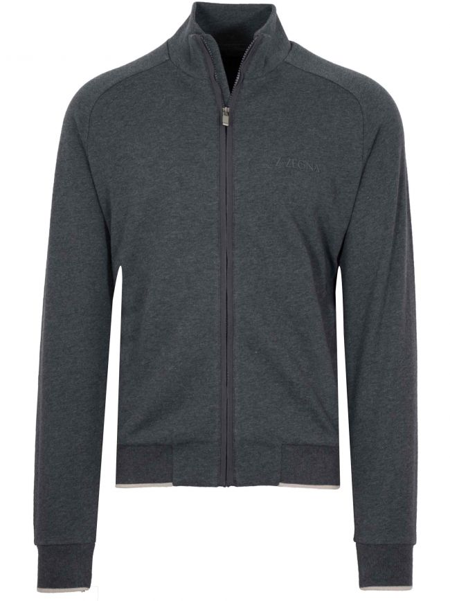 Dark Grey Zip Top
