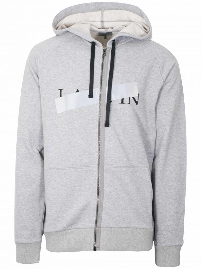 Grey Reflective Cross Hooded Sweatshirt
