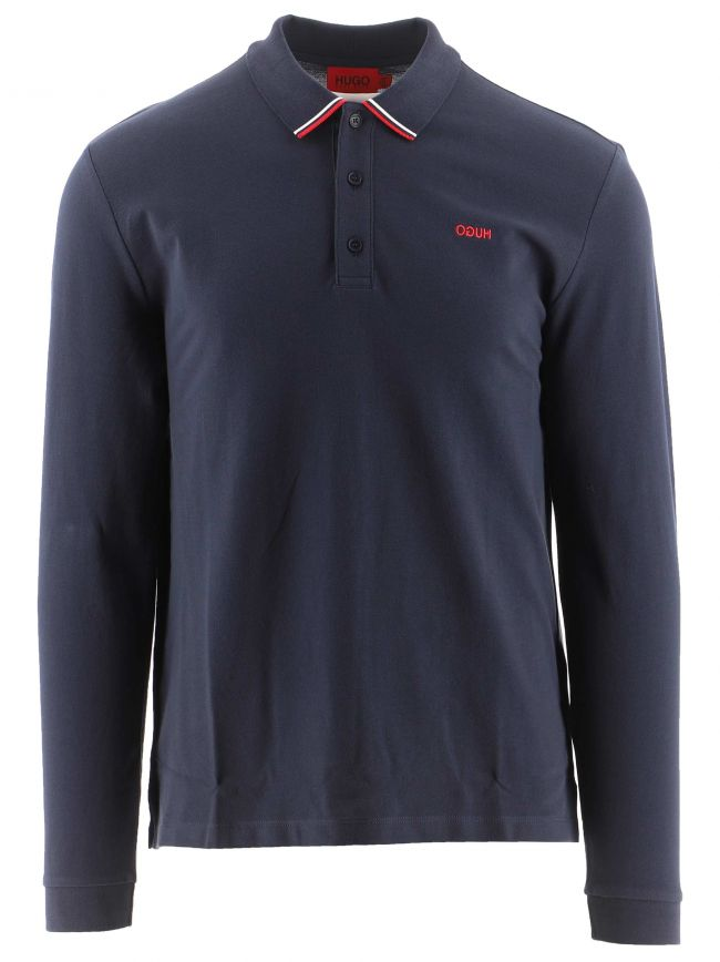 Navy Long Sleeved Donol 212 Polo Shirt