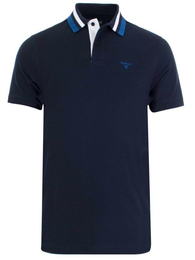 Alston Navy Short-Sleeved Polo