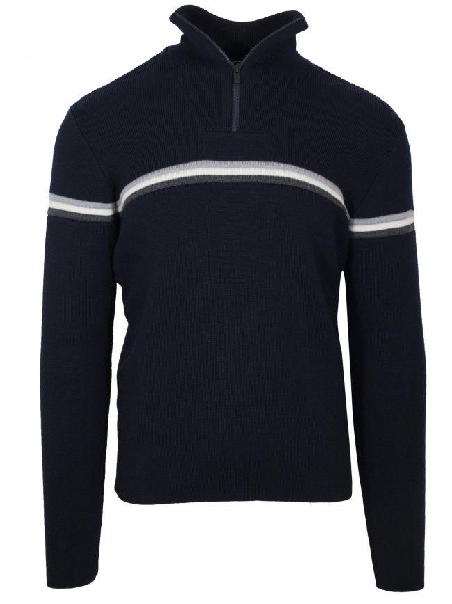 Navy 'Wengen III' Half Zip Sweatshirt