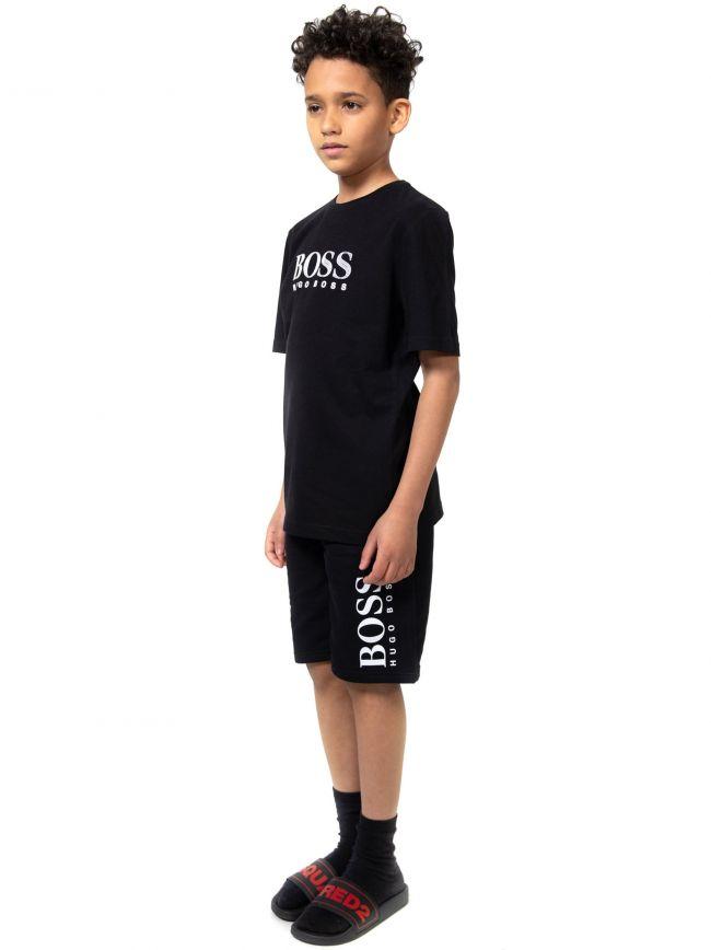 BOSS Kids Black Logo T-Shirt