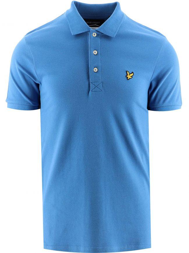 Blue Plain Polo Shirt