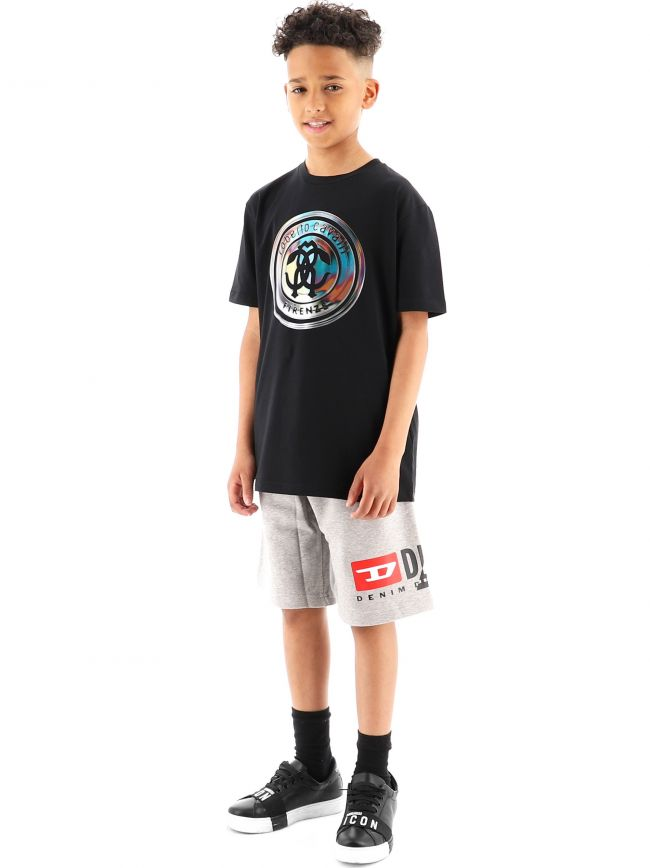 Roberto Cavalli Kids Black RCC Logo Jersey T-Shirt