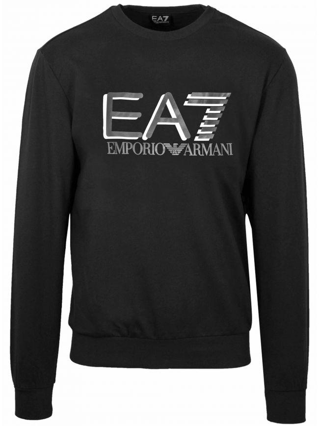 Black Reflective Logo Sweatshirt