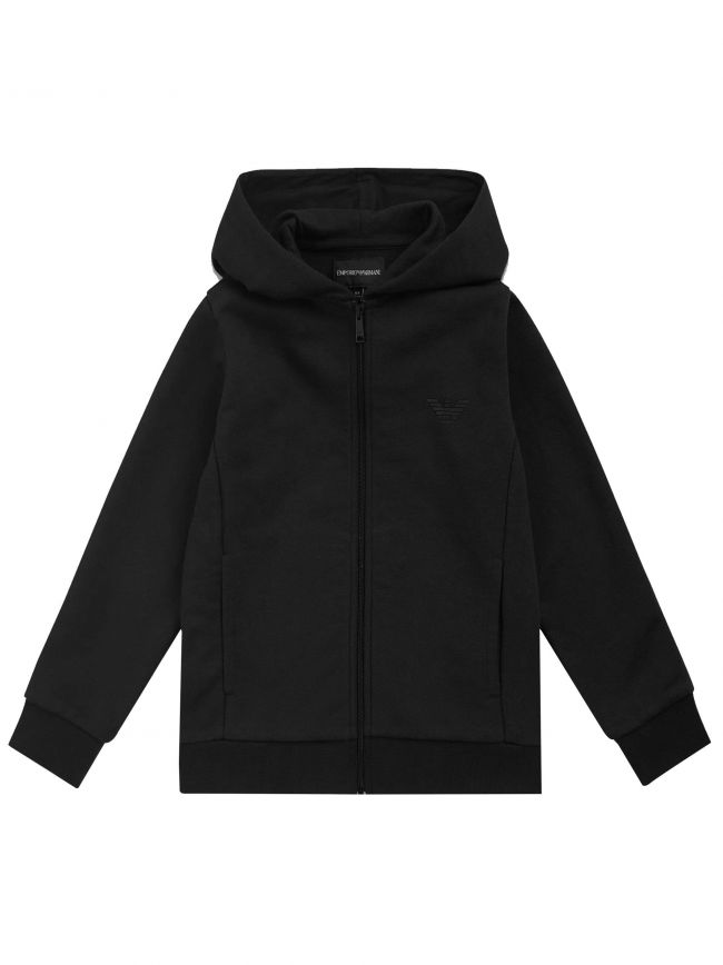 Black Hooded Zip Sweatshirt