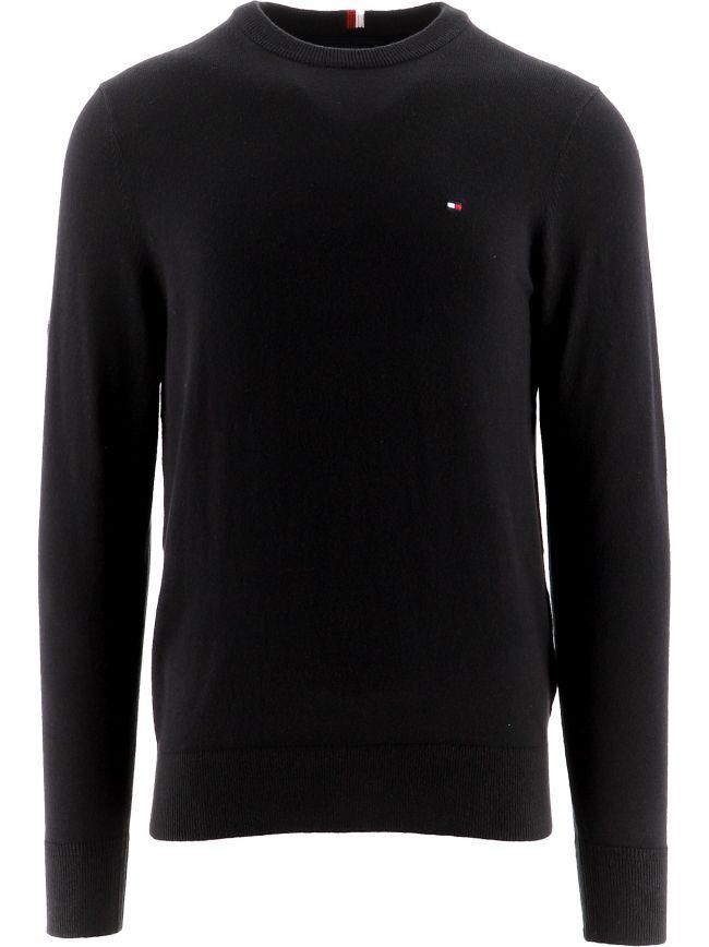 Black Pima Cotton Cashmere Sweatshirt