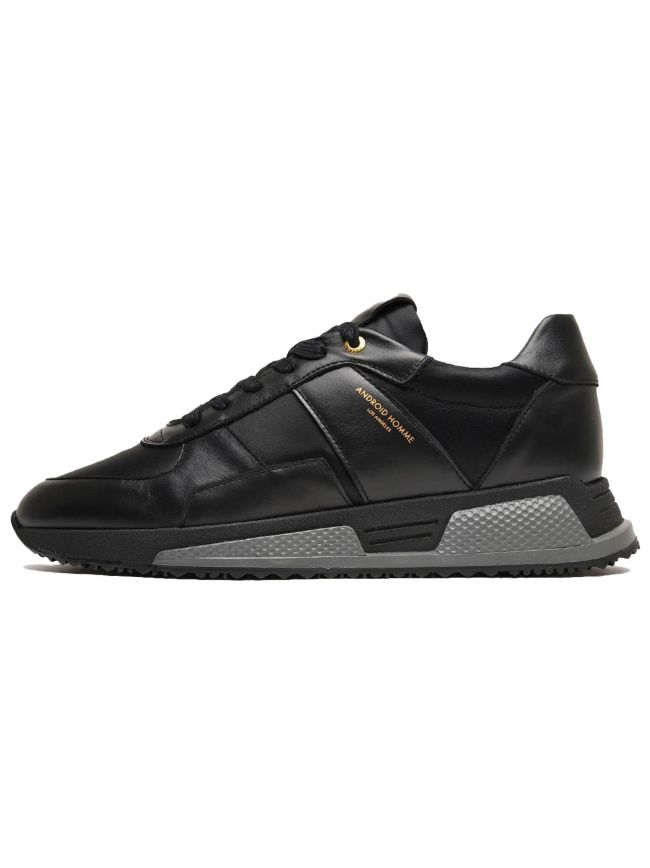 Black Leather Nylon Matador Sneaker