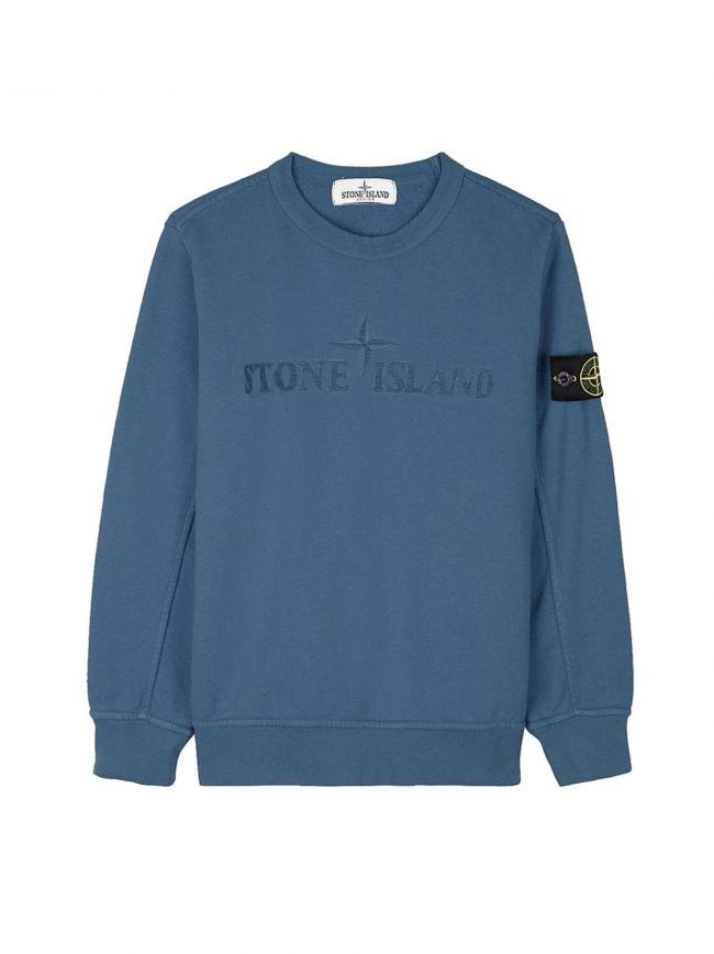 Blue Embroidered Logo Sweatshirt