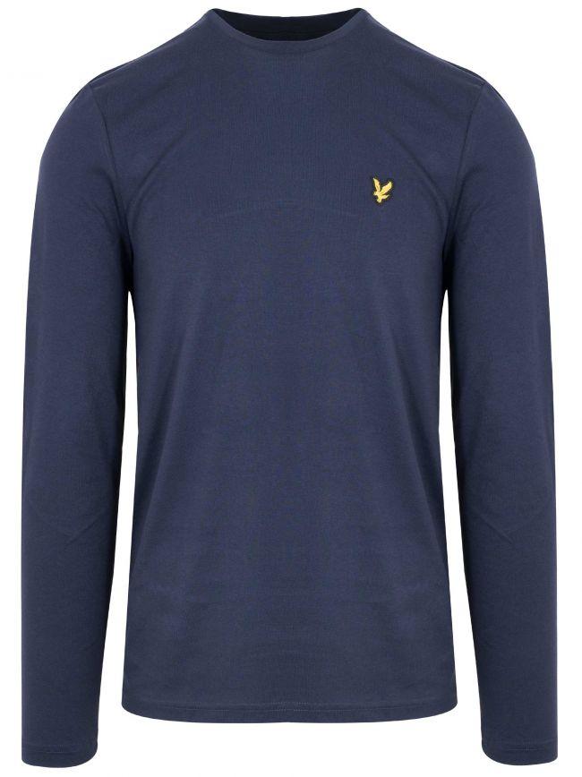 Navy Long Sleeved Crew Neck T Shirt