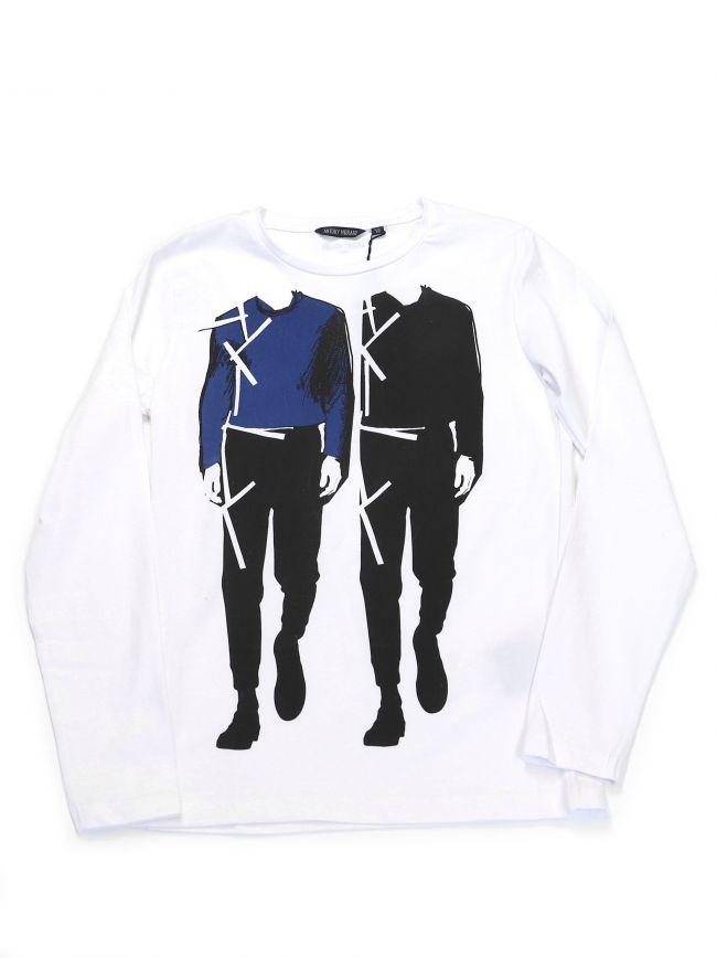 Antony Morato Kids White Logo Graphic T-Shirt