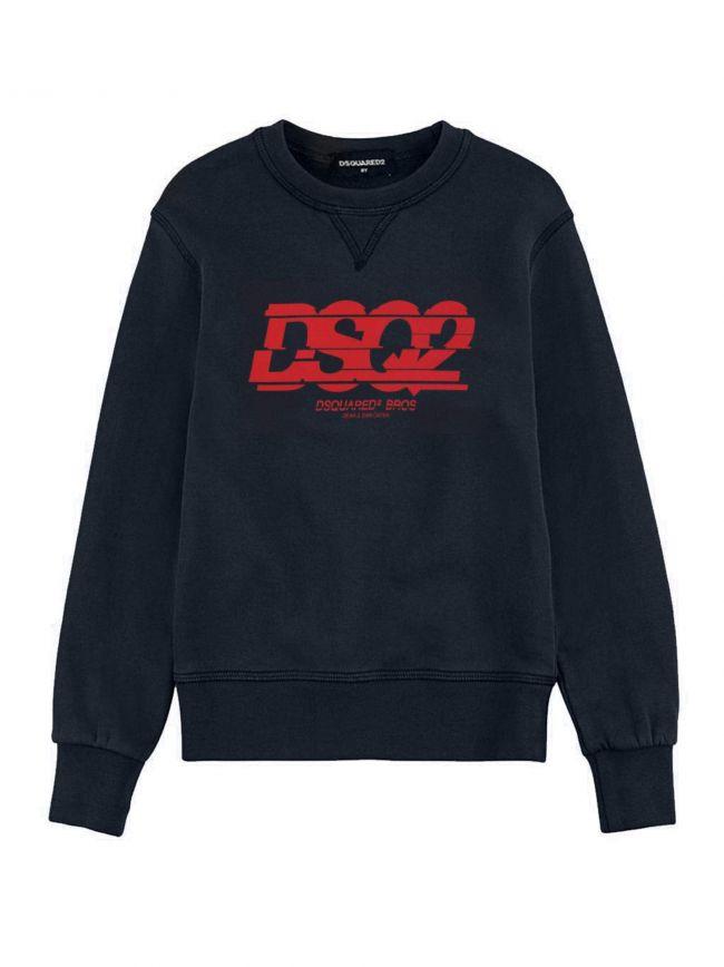 Navy Slice Logo Sweatshirt