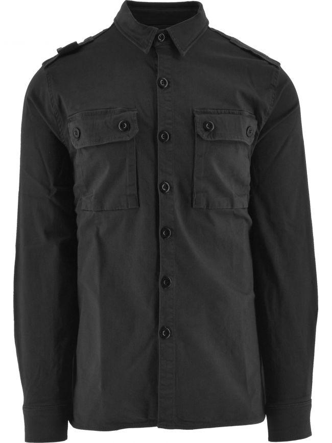 Jet Black Two Pocket Overshirt