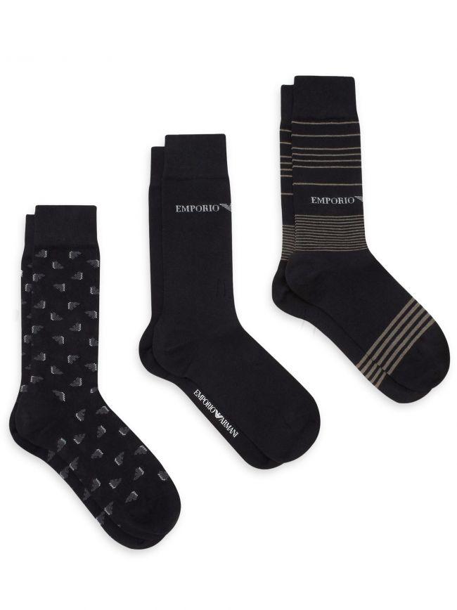 Black 3-Pack Socks