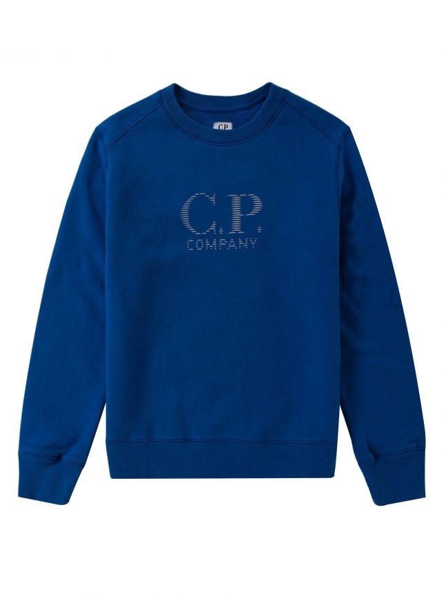Royal Blue Reflective Logo Sweatshirt