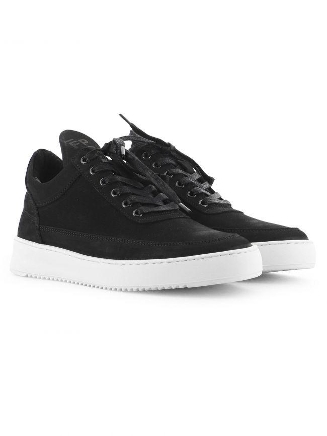 Black Low Top Ripple Basic Sneaker