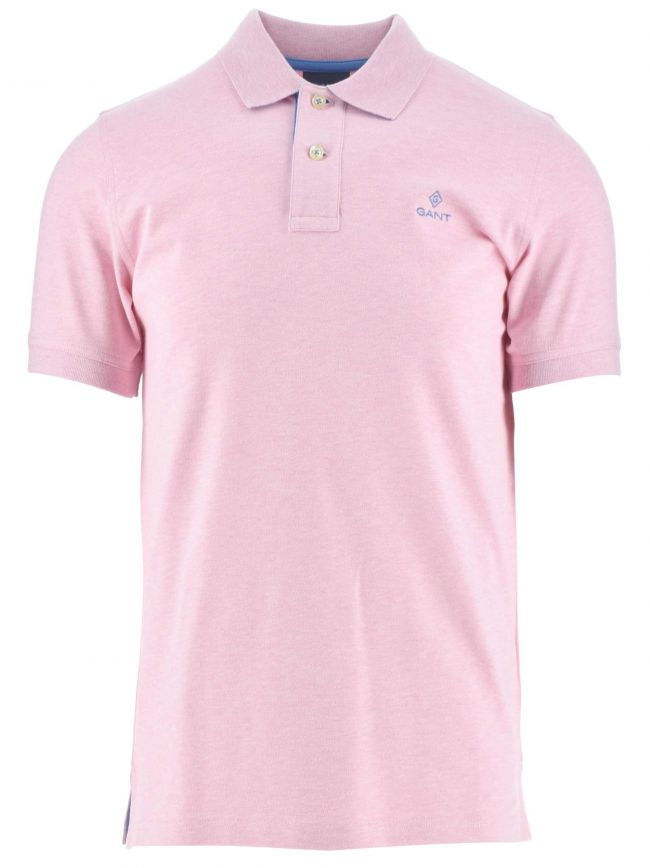 Light Pink Melange Polo Shirt