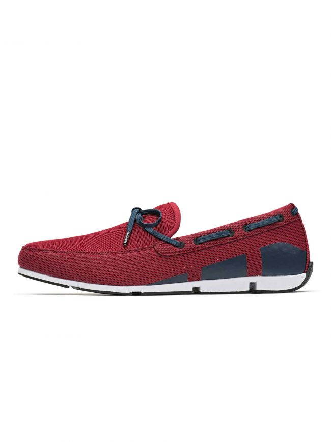 Red and Navy Breeze Boat Loafer