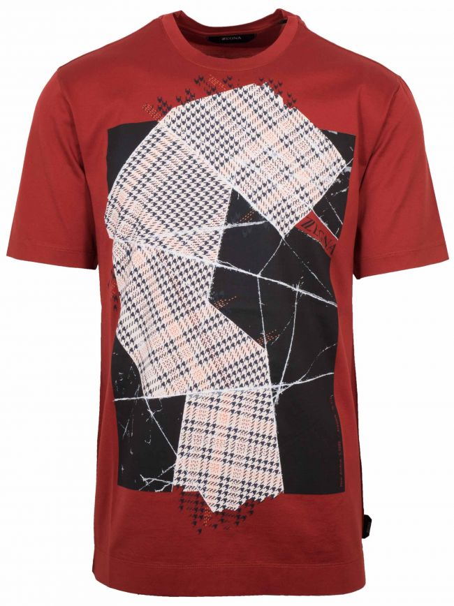 Red Checkered Logo T-Shirt