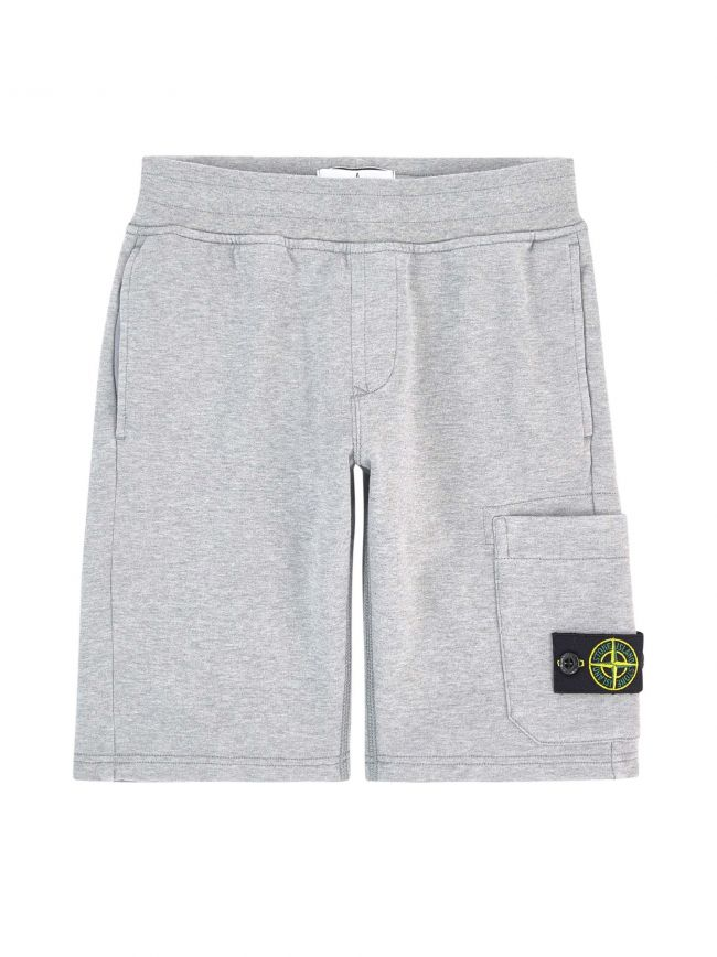 Grey Melange Jersey Short