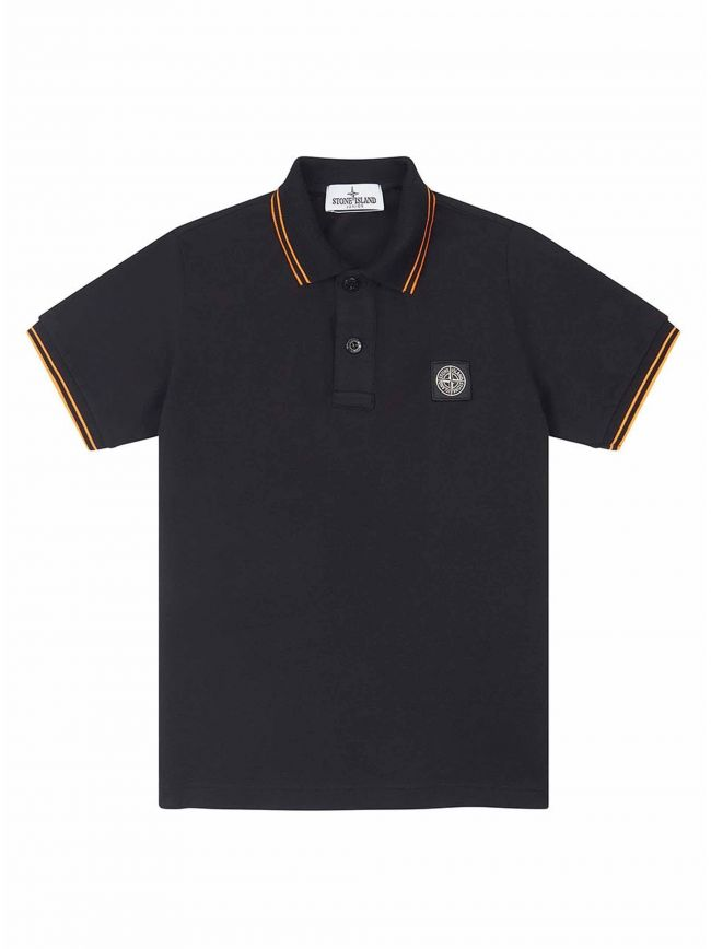 Black Piqué Polo Shirt