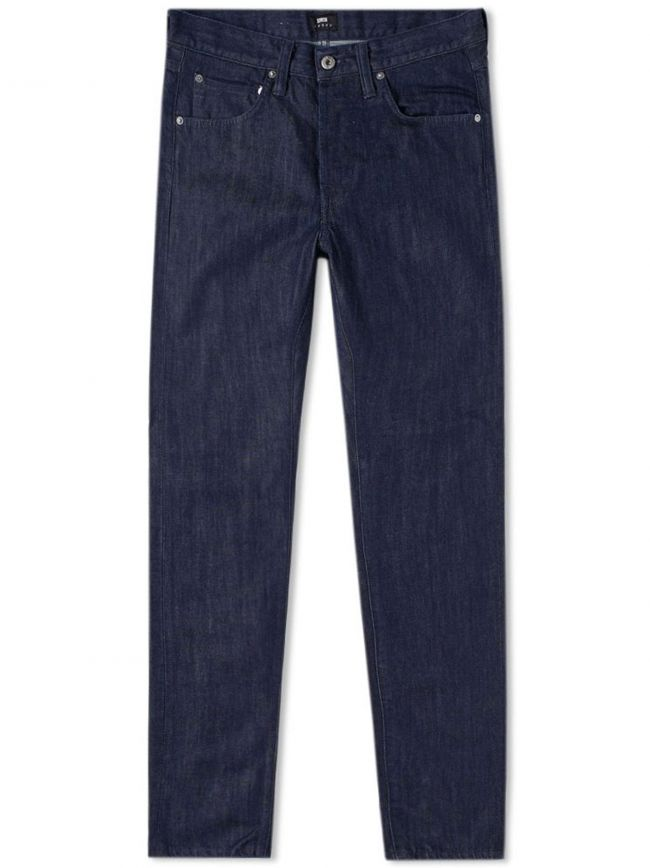 Blue Rinsed ED-55 Kingston Blue Denim Regular Tapered Jean
