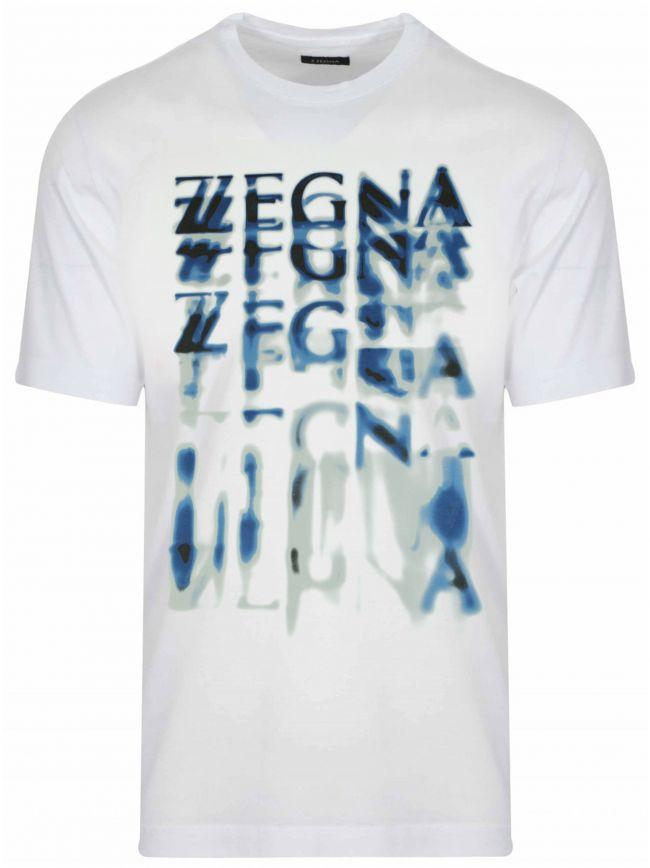 White Smudge Logo T-Shirt